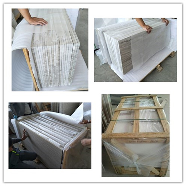 Wooden Vein Marble Slab Packing