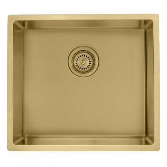 Rose gold single bowl undermount sink